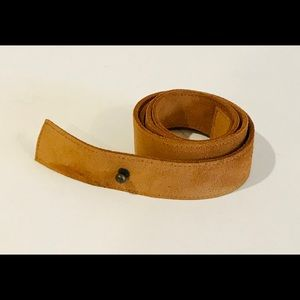 Eileen Fisher Brown Suede Leather Single Wrap Belt